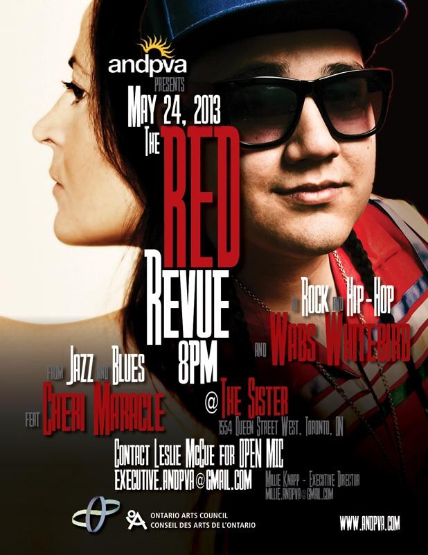 The Red Revue MAY2013 - Cheri Maracle & Wabs Whitebird 2 WEB-3