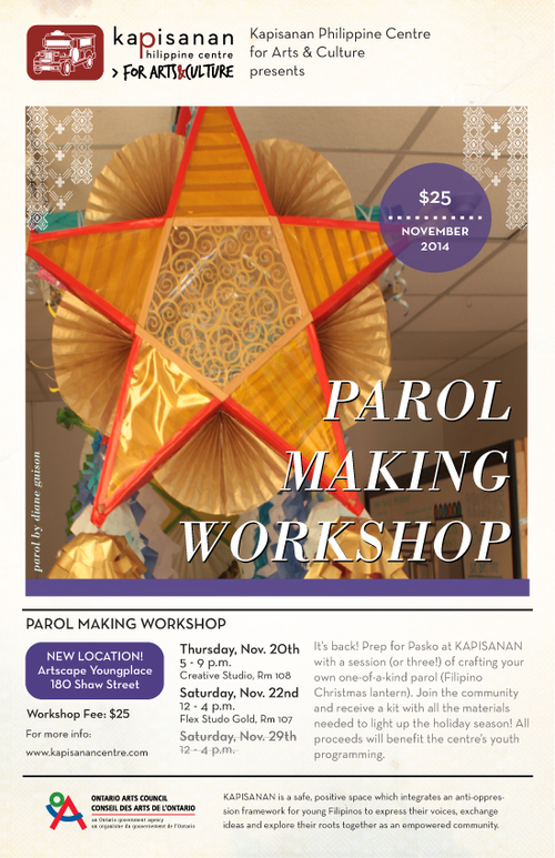 Parol Making Flyer 2015